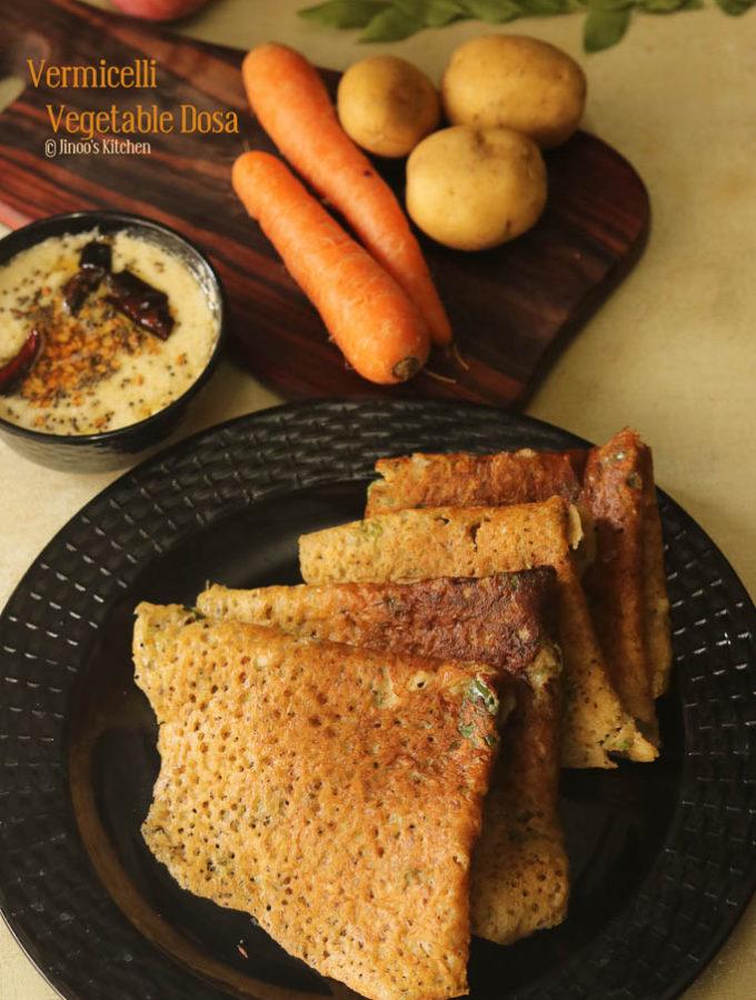vermicelli dosa recipe semiya dosai recipe