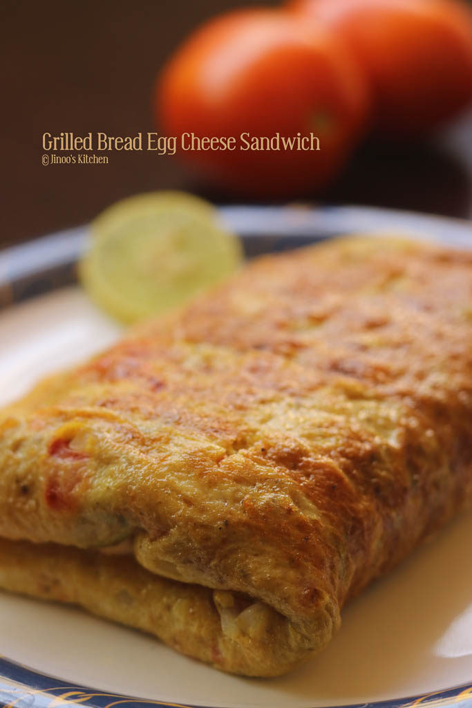 Grilled Bread Egg cheese sandwich recipe