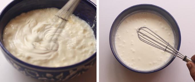 fresh cream raita recipe whisking