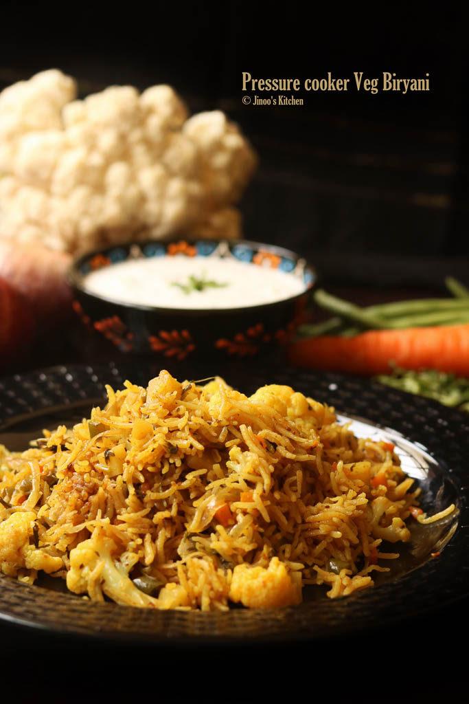 pressure cooker veg biryani recipe