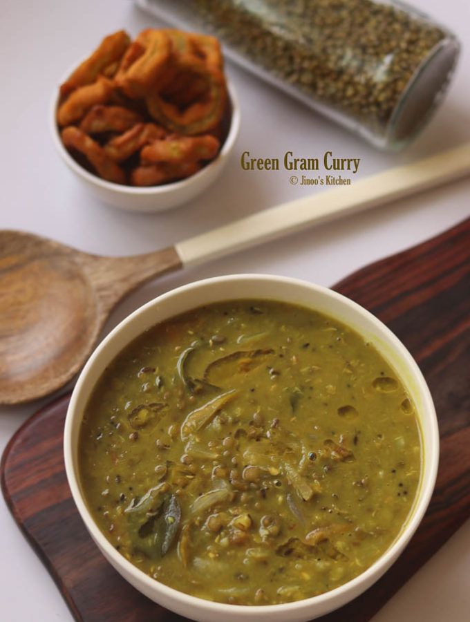 Green gram curry recipe for rice