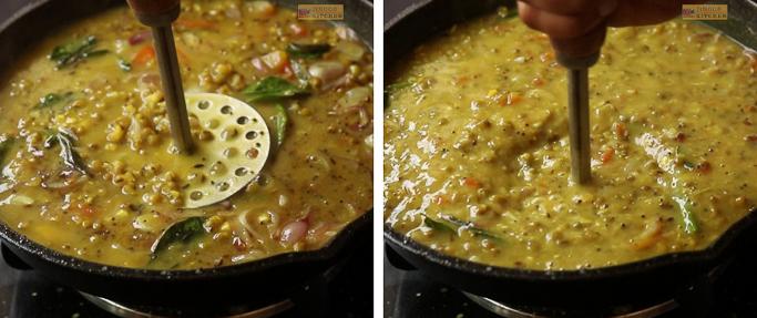 mash well Cherupayar curry