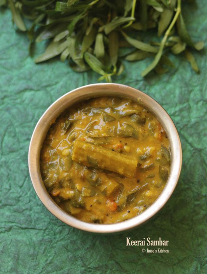 ponnanganni keerai sambar recipe
