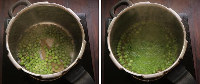 add peas and masala Peas pulao recipe