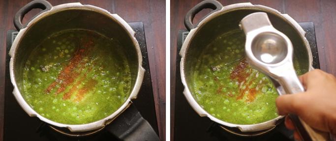 spices and lemon Peas pulao recipe