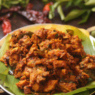 spicy chicken fry recipe Kerala style