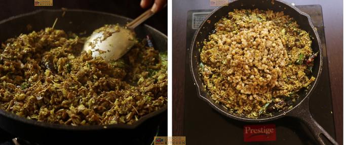 cook till raw smell leaves Chundum payarum recipe