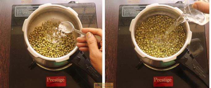 cook green gram Chundum payarum recipe